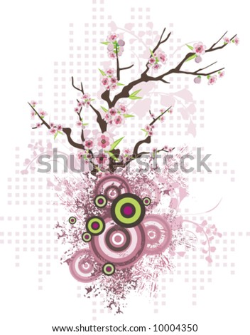 abstract floral design spring tree grunge stock vector royalty free