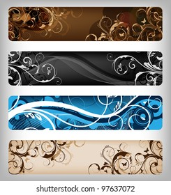 abstract floral designs for banner or background