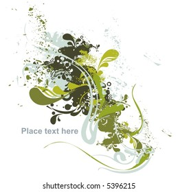 abstract floral & grunge design,vector