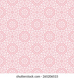 Abstract floral ornament, symmetric seamless pattern, wedding design, vector illustration