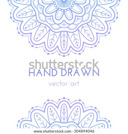 Abstract Floral Ornamental Border Lace Pattern Vector de stock ...