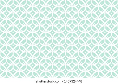 Abstract floral seamless pattern. Vector art deco texture. Geometric minimalist background.