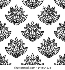Abstract floral seamless pattern - vector