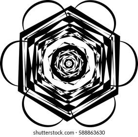 Abstract floral shape. Element for design. Vector illustration.