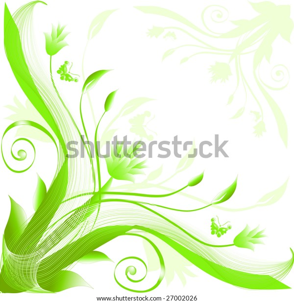 Abstract floral silhouette, element for design.