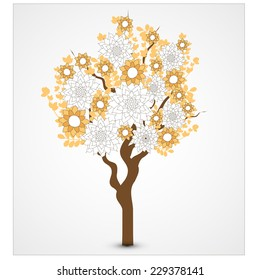 abstract floral tree. vector