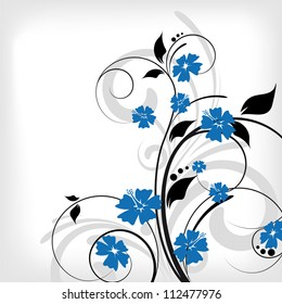 an abstract floral vector background for design