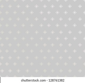 Abstract Flower Background Texture. Seamless pattern. Floral lightning ornament. Grey background