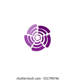 abstract flower logo vector