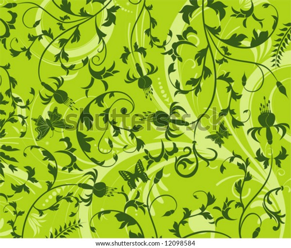 Abstract flower pattern with butterfly, element for design, vector illustration