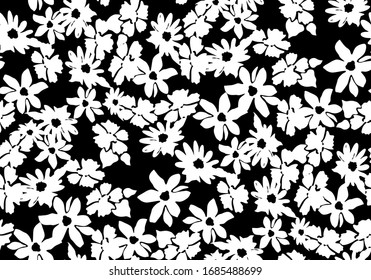 Abstract flower pattern seamless.  Stylish vector design for fabric, wallpaper, wrapping, background.