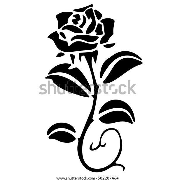 Abstract Flower Rose Vector Outline Icon Stock Vektorgrafik
