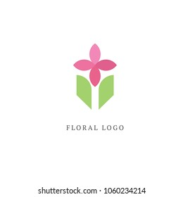 Abstract flower store logo icon vector design. Cosmetics, Spa, Beauty salon Decoration Boutique vector logo. Floral logo. Flower wedding icon. Luxury spring and summer, emblem.