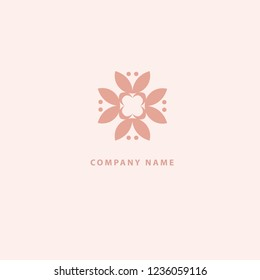 Abstract flower store logo icon vector design. Cosmetics, Spa, Beauty salon Decoration Boutique vector logo. Vector illustration, Graphic Design Editable Design. Floral logo. Flower wedding icon