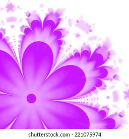Abstract Flower texture, purple, pink. Modern colorful pattern resembling watercolor strokes. Design element for backgrounds, printed media, web banners, etc.