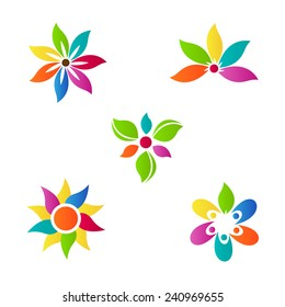 Abstract flower vector design represents decorative and company logo purpose.