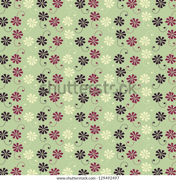 abstract flower vector pattern background