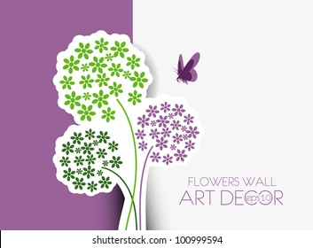 Abstract flowers background with place for your text