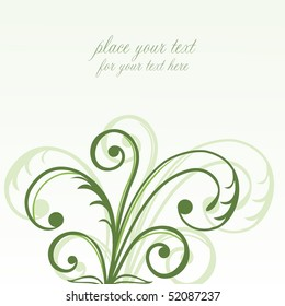 Abstract flowers background with place for your text. Vector