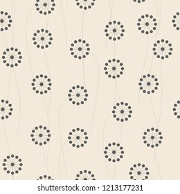 Abstract flowers pattern collection.