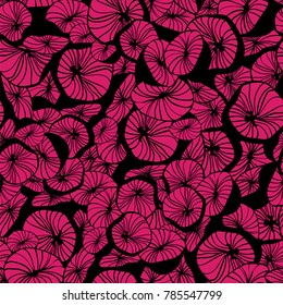 Abstract flowers. Seamless vector pattern.
