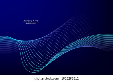 Abstract flowing line digital technology, smooth particle wave, big data techno design concept background wallpaper, vector eps  - Shutterstock ID 1928292812