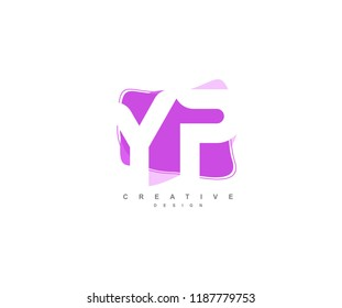Abstract Flowing Liquid Shapes Letter YP Logo Design