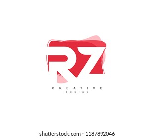 Abstract Flowing Liquid Shapes Letter RZ Logo Design