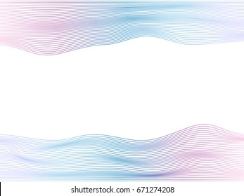 Abstract flowing wave lines with colorful soft tone color palette for design element, banner, background