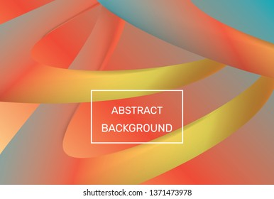 Abstract fluid colorful shapes. Trendy geometric background. Vector EPS 10.