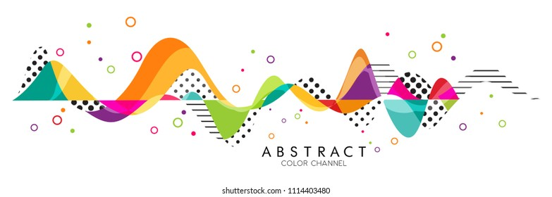 Abstract Fluid creative templates with dynamic linear waves.cards, color covers set. Geometric design