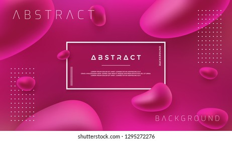 Abstract Fluid Liquid vector background design. Abstract 3D pink background.