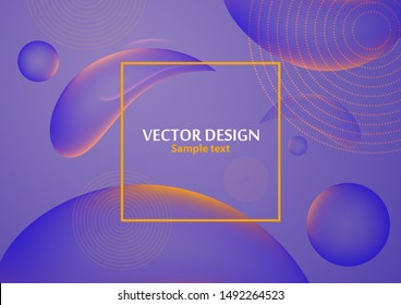 Abstract fluid and modern elements. Dynamic color gallographic shapes and lines. Trendy template for cover design for brochures, web banners, flyers or posters. Vector illustration