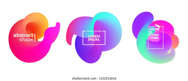 Abstract fluid shapes isolated on white. Eps10 vector.