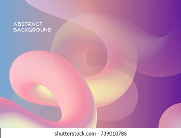 Abstract Fluid Vector Wallpapers. Pastel, sweet futuristic theme, spring colors. Used for phone, tablet or another device screen, advertising presentation, as website background. Futuristic  concept.