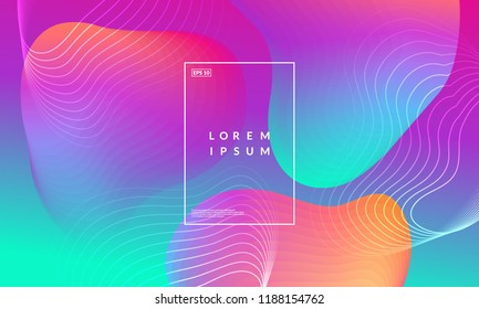 Abstract fluid wallpaper. Trendy gradient colors. Eps10 vector.