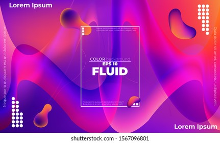 Abstract fluid wave color pattern of neon color liquid gradient background with modern geometric dynamic motion style Suitable For Wallpaper, Banner, Background, Card, Book Illustration, landing page,