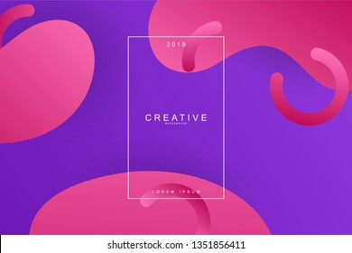 Abstract fluids form composition trend background. Fluids, wavy, dynamic background, gradient color, flowing shapes,. Usable for landing page. Trendy and modern background color.