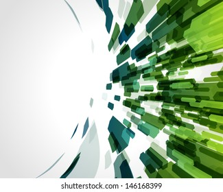 Abstract fly colorful hexagon shapes vector background.