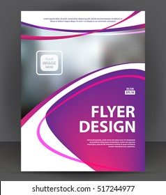 Abstract flyer, brochure, cover layout design print template, pamphlet vector letter format Illustration