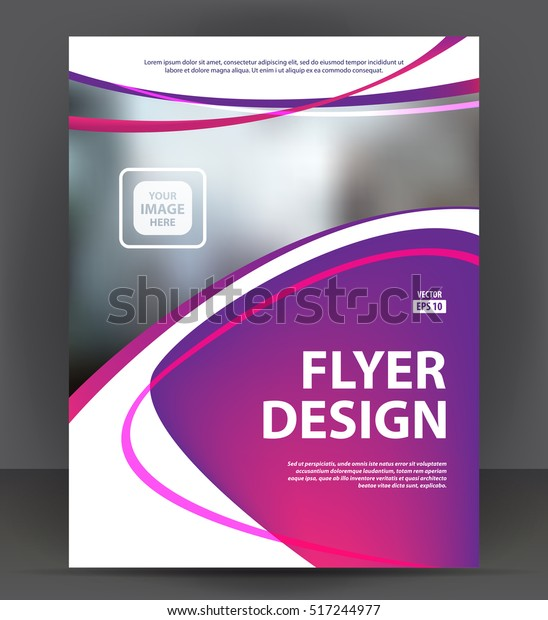 Abstract Flyer Brochure Cover Layout Design Stock ...