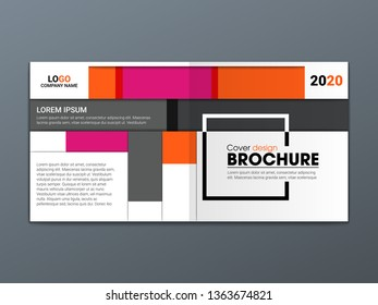 Abstract flyer design background. Brochure template. - Vector