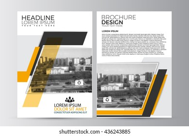 yellow design on background brochure template layoutcover の