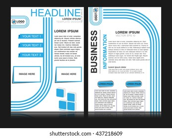 Abstract flyer design background, brochure template. Can be used for magazine cover, business, education, presentation.