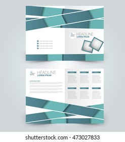 Abstract flyer design background. Brochure template. Can be used for magazine cover, business mockup, education, presentation, report. Green color