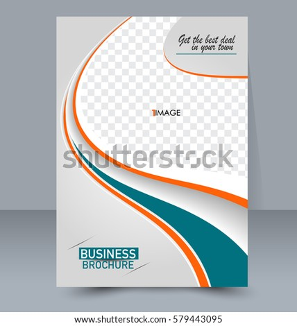 abstract flyer design background brochure template stock vector