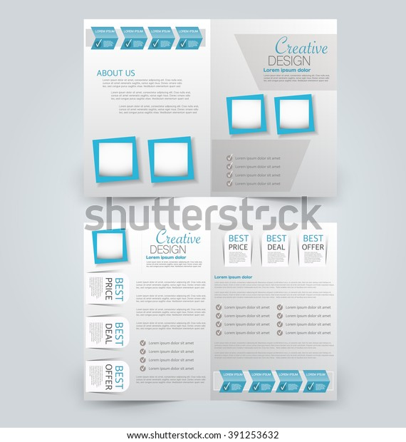 Abstract Flyer Design Background Brochure Template Stock Vector Royalty Free 391253632