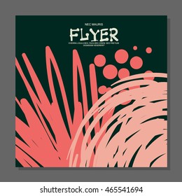 Abstract flyer with space for text. It can be used as an invitation to a night club. Vector illustration