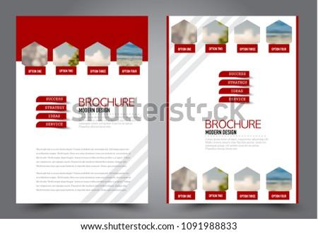 abstract flyer template business brochure design stock vector