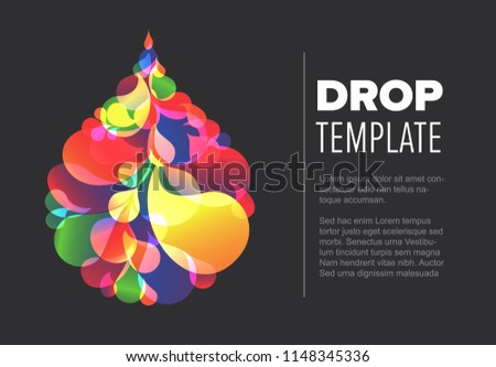 abstract flyer template colorful droplet made stock vector royalty
